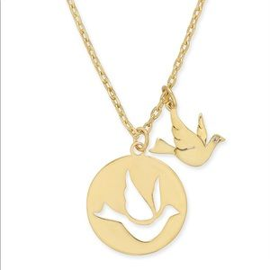 New Kate Spade Bird Pendant Necklace in Gold!!